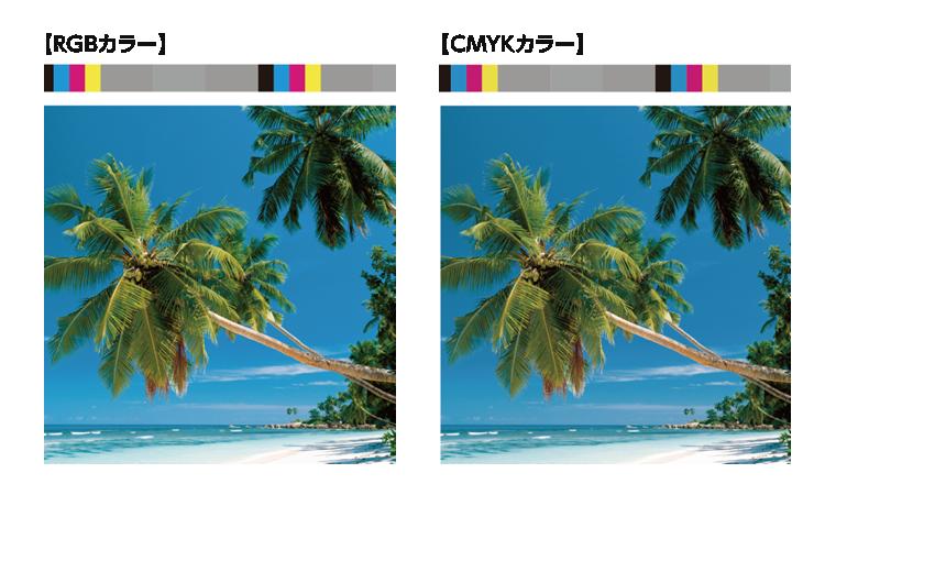 RGBよりもCMYKがくすむ現象