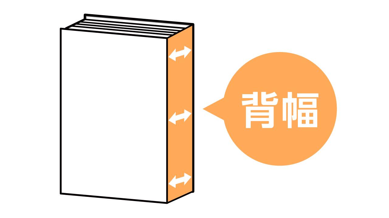 背幅   ウイルの印刷用語集