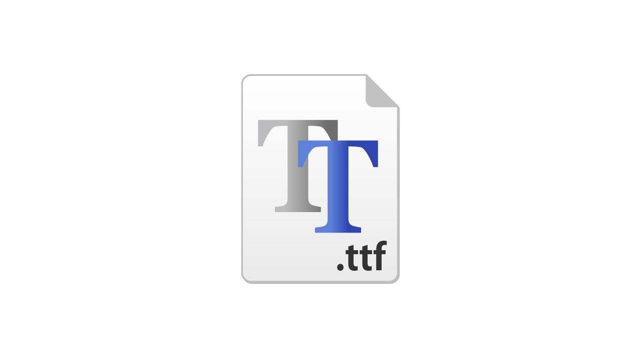 トゥルータイプフォント